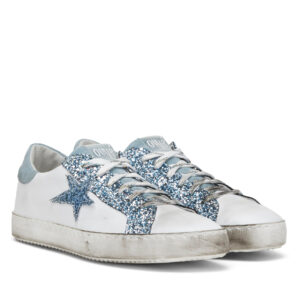 Leder Sneakers Ovye Sky Blue
