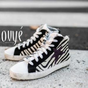 Leder Star Zebrafell Sneakers Ovye