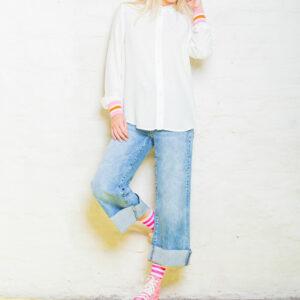 Bluse Pink Stripes